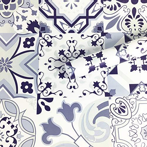 WDragon Klassisches Porzellan-Muster, Kontakt-Papier, Klebefolie, Fliesen, Papier, feuerfest, 45 cm x 250 cm