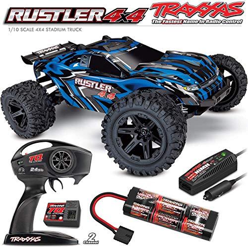 Traxxas Rustler 4x4, 4x4 RC Truck, 1/10 Scale, Blue