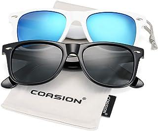 COASION Classic Polarized Sunglasses for Men Women Retro...
