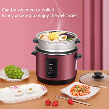3 liter classical red rice cooker, large-capacity multi-function rice cooker for cooking and steaming, non-stick cookware sui