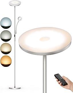 Anten Lampadaire LED à intensité variable | 30 W avec lampe de lecture 5 W | 2000 lm Lampadaire avec 4 températures de cou...