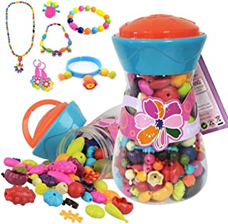 Alens diy-jewelry-300pcs Pop Snap Beads Set Creative DIY Jewelry Making Kit for Necklace, Ring, & Bracelet for Ages 3 & Up(200 Pcs), 200pcs