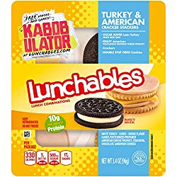 Lunchables Turkey & American Cheese Stackers with Oreo Cookie (3.4 oz Tray)