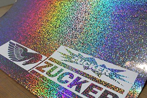 (30,80€/m²) Plotterfolie Metall Flakes Silver Oilslick Auto Klebe Effekt Folie von Finest-Folia Hologramm