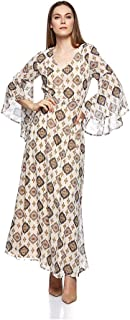 Mela London-ML3735-Women-Maxi Dress-Beige-14 UK