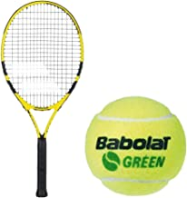 Babolat Nadal Junior Tennis Racquet Set or Kit Bundled with Kids' Play & Stay Training Tennis Balls (Perfect for Beginner Boys and Girls)