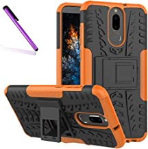 Huawei Mate 10 Lite Case, Tyre Pattern Design Heavy Duty Tough Armor Extreme Protection Case with Kickstand Shock Absorbing Detachable 2 in 1 Case Cover for Huawei Mate 10 Lite/Nova 2i. Hyun Orange