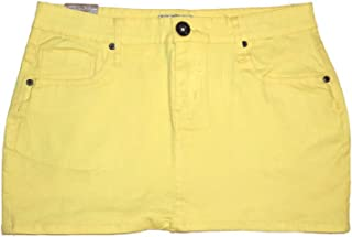 No Fuze FGR Women's Basic Stretch Twill Mini Skirt in Bright Colors Cotton Lycra