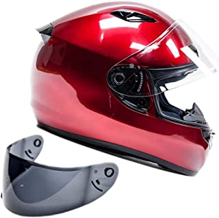 Snell M2015 Approved Full Face Motorcycle Helmet (XL - Red)