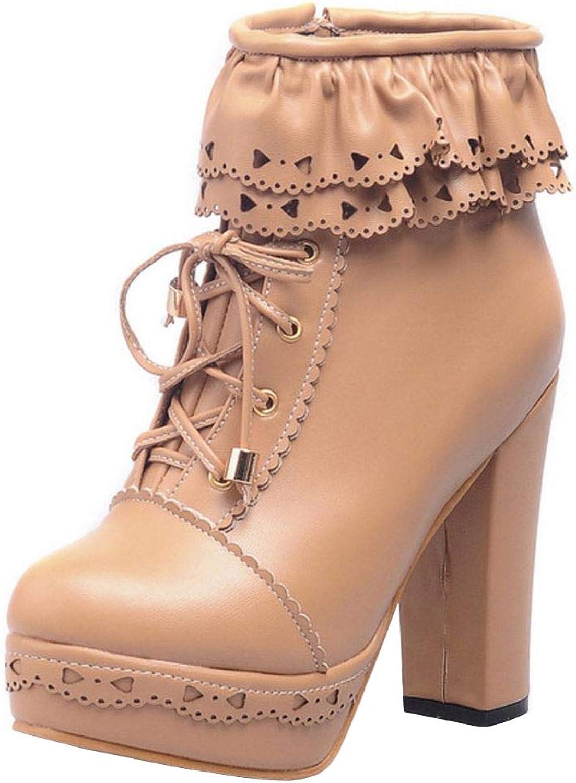 Melady Sweet Platform Bootie Boots Zipper