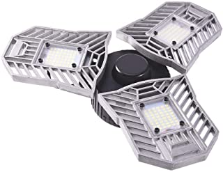 LED Garage Lights,Ai CAR FUN LED Garage Lighting with 3 Adjustable Deformable Panels - 6000K 60W 6600lm Garage Ceiling Light Fixture