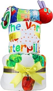 はらぺこあおむし 出産祝い 豪華2段おむつケーキ ERIC CARLE エリックカール パンパースSサイズ 男女兼用