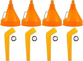 VICASKY 4Pcs Funil Óleo Funil Pescoço Longo Larga de Plástico Flexível Com Bocal de Extensão para Carros E Motos de Óleo D...
