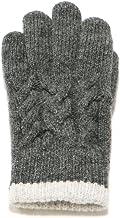 イチーナ【縄柄ウール手袋】香川の手袋 日本製 吸湿発熱素材 ウール100% (メンズ・フリーサイズ)