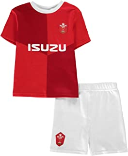 Wales Rugby Home 2 Piece Mini Kit Infants Baby Red Shirt Short Set