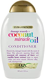 OGX Extra Strength Damage Remedy + Coconut Miracle Oil Conditioner for Dry, Frizzy or Coarse Hair, Hydrating & Flyaway Tam...