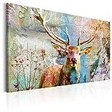 murando - Bilder Hirsch 120x80 cm Vlies Leinwandbild 1 TLG Kunstdruck modern Wandbilder XXL Wanddekoration Design Wand Bild - Tiere Abstrakt g-C-0060-b-b