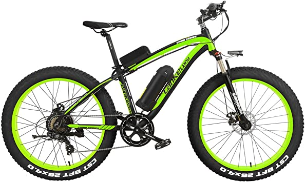 LANKELEISI XF4000 26 Pulgadas Bicicleta de montaña eléctrica 4.0 Nieve Grasa de neumáticos Bicicleta 1000W/500W energía Fuerte 48V batería de Iones de ...