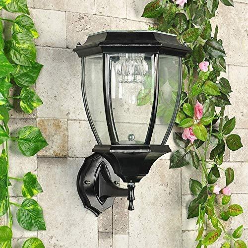 HCFSUK Apliques Iluminación de Pared Luces solares LED Luces de Pared para Exteriores Luz LED con energía Solar Luz de Seguridad Impermeable IP42 Luces de Pared para jardín