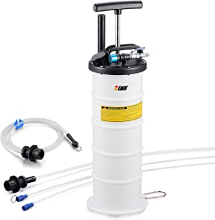 EWK Pneumatic/Manual 6.5 Liter Oil Changer Vacuum Fluid Extractor Pump Tank Remover + Brake Bleeding Hose