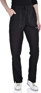 Marilyn Monroe Women's Stretch 8-Pocket Pants, Mid Rise, Roomy Straight Leg, Soft Medical Scrub Pants