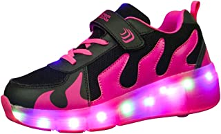 Genda 2Archer Kids Adults Mesh Light up Wheels Roller Skates LED Fashion Sneakers