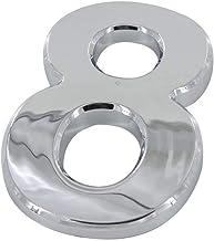 Wusfeng LHongBin-Deur huisnummer, 100mm Hoogte ABS Plastic Zilveren Kleur, Digitaal Huisnummer, Optioneel Huishotel Deurnu...