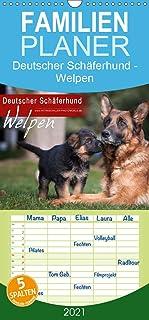 Deutscher Schäferhund - Welpen - Familienplaner hoch (Wandkalender 2021 , 21 cm x 45 cm, hoch): Hundewelpen (Monatskalender, 14 Seiten ) (CALVENDO Tiere)