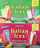 Wyler's Wylers Authentic Italian Ices (Assorted & Berry Cherry Flavors) ((40) 1.5oz bars (2/20ct boxes)),, 20 Count ()