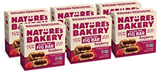 Nature's Bakery Gluten Free Fig Bars, Raspberry, Real Fruit, Vegan, Non-GMO, Snack bar, 6 boxes with 6 twin packs (36 twin...