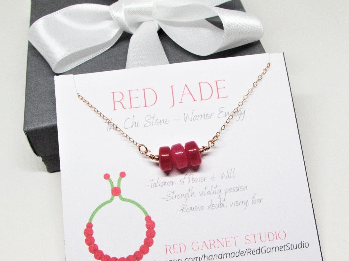 Cherry Red Jade Disk Bead Necklace- Silver Sterling Ranking Max 48% OFF TOP12 Bar Pendant