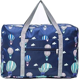 PAXLamb Carry-Ons Folding Flight Bag Travel Duffel Bag Foldable Travel Luggage Bag Lightweight Travel Luggage Duffle Tote Bag Waterproof Luggage Organizer Storage Carry-on Bag (Blue Balloon)