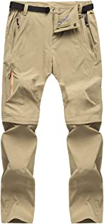 Men's Outdoor Quick Dry Convertible Pants Lightweight Hiking Camping Cargo Shorts