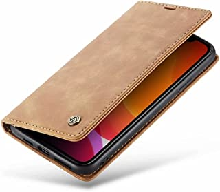 DoAo vivo Y52s t1 Case Genuine Leather Wallet Case Card Holder Shockproof Flip Cover Magnetic Flip vivo Y52s t1 cover-yellow