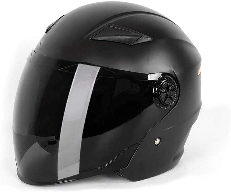 QDY Vintage Motorcycle Jet Helmet, Men and Women Crash Half Helmet Motorbike Retro Helmet Summer Cruiser Bike Scooter Helmet Cap for Couple Adults Men & Women Dot Certified