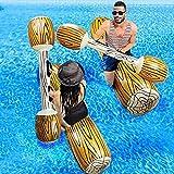 lefeindgdi Batalla tronco balsas inflable piscina flotador fila juguetes juegos al aire libre piscina flotador agua juguetes para verano piscina fiesta deportes acuáticos