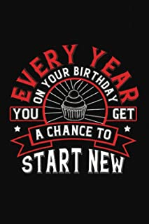 Every Year On Your Birthday You Get A Chance To Start New: Happy Birthday-Bible Study Journal: A Creative Christian Workbo...