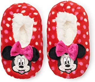 Minnie Mouse Toddler Girls' Bow Slipper Socks (Size 3T-4T)