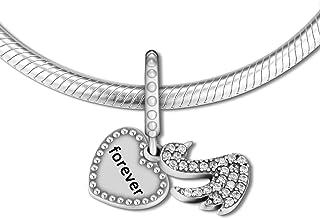 CKK DIY Fits Pandora Charm Bracelets Elegant Lady Glamour Charms Beads Pendant Necklace Jewelry Gift for Women silver 0041...