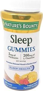 Nature's Bounty Sleep Complex Gummies 60ct, 3 millgrams Melatonin, 200 milligrams L-Theanine Gummies (2 Pack)
