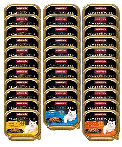 animonda Vom Feinsten Adult Katzenfutter, Nassfutter für ausgewachsene Katzen, Saucen Vielfalt, 32 x 100 g