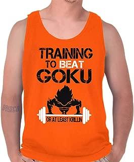 Training to Beat Goku Super Nerdy Ninja Tank Top