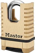 Master Lock Heavy Duty-hangslot van massief messing [Gesloten Beugel][Combinatieslot] M1177EURD - Antiroest, Ultra-resiste...