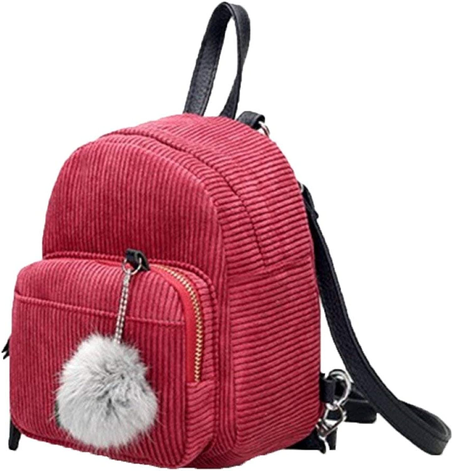 Campus Backpack Female Bag Casual Canvas Backpack 2018 Hot Fashion Backpack (4 colors Optional) School Rucksack (color   Red, Size   Medium)