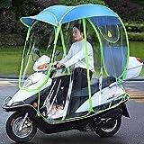 AFAGC Toldo Transparente para Coche Eléctrico Completamente Cerrado, Cubierta para Lluvia para Motocicleta, Motor Universal, Scooter, con Sombrilla para Bicicleta De Ciclismo,Azul,B