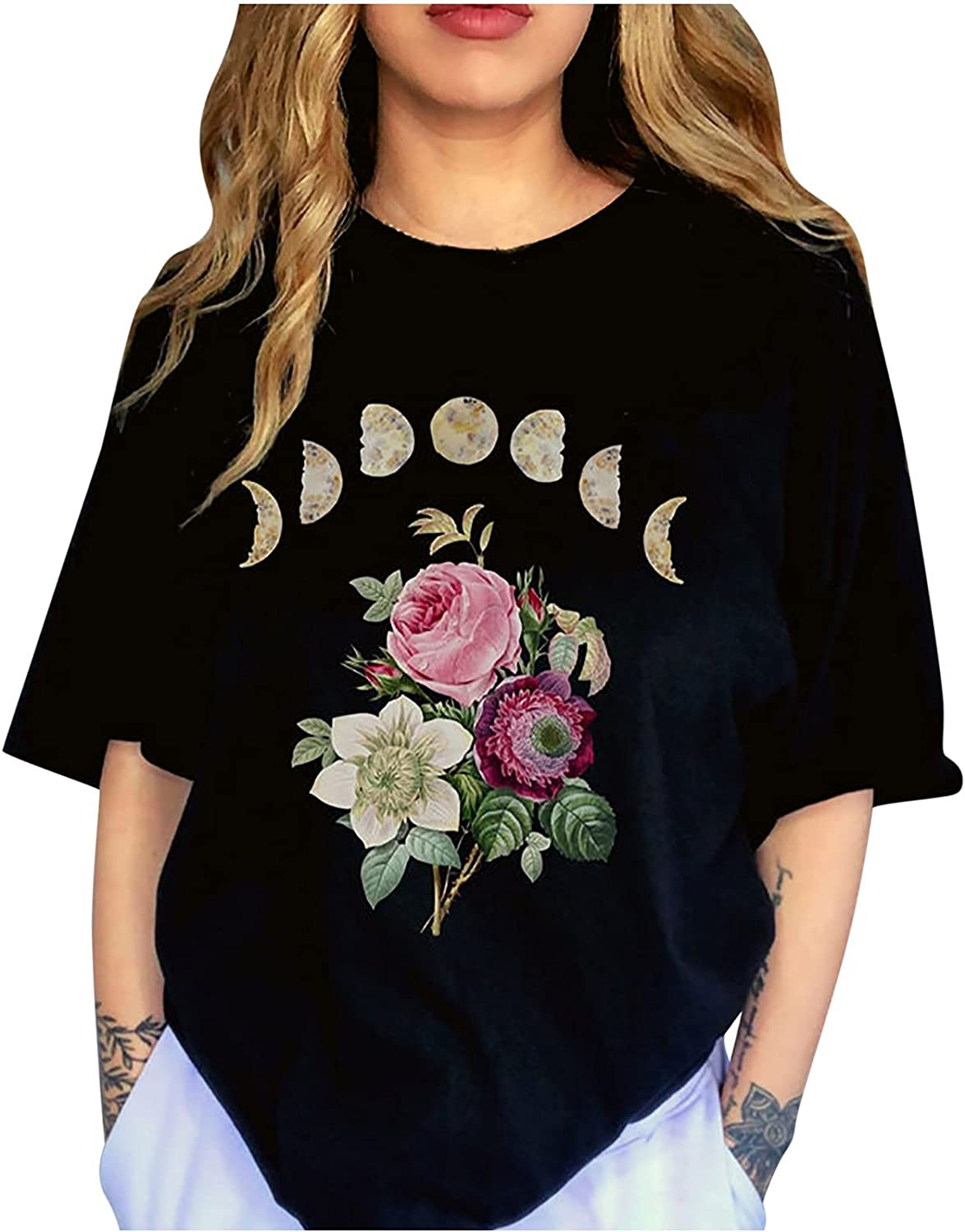 Women's Short Direct store Sleeve Oversized T Graphic Comfy Shirts Te Cheap mail order specialty store Vintage