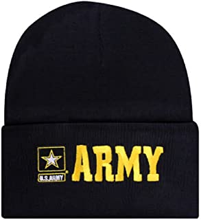 Offically Licensed US USA Army Star Logo Embroidered Beanie Watch Cap Stocking Hat Military