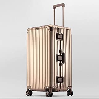 YCYHMYF Aluminum-Magnesium Alloy Large-Capacity Suitcase for Men and Women