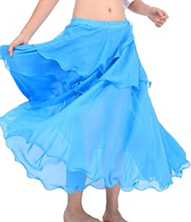 Belly Dance Costume Long Wave Skirt Dress10 for Belly Dancer Dancing Skirts