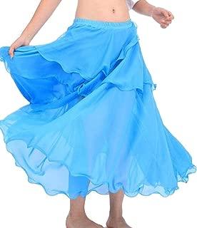 Belly Dance Costume Long Wave Skirt Dress10 for Belly Dancer Dancing Skirts